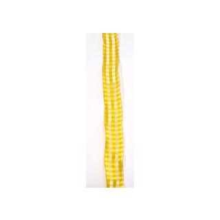 Drahtb. Karo 25mm gelb