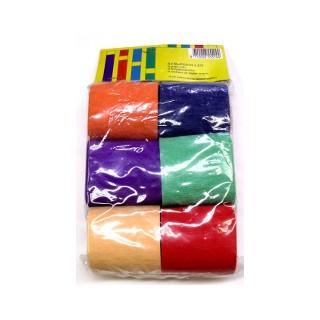 Krepprollen verschiedenfarbig Krepp-Papier 50mm/6 Rol.