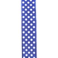 Pünktchen m. Drahtk. blau/weiss 25 mm