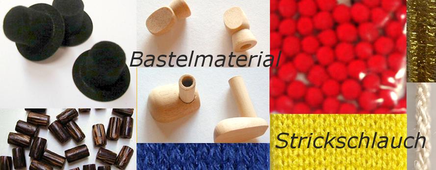 Bastelmaterial, Strickschlauch, Zylinder ....